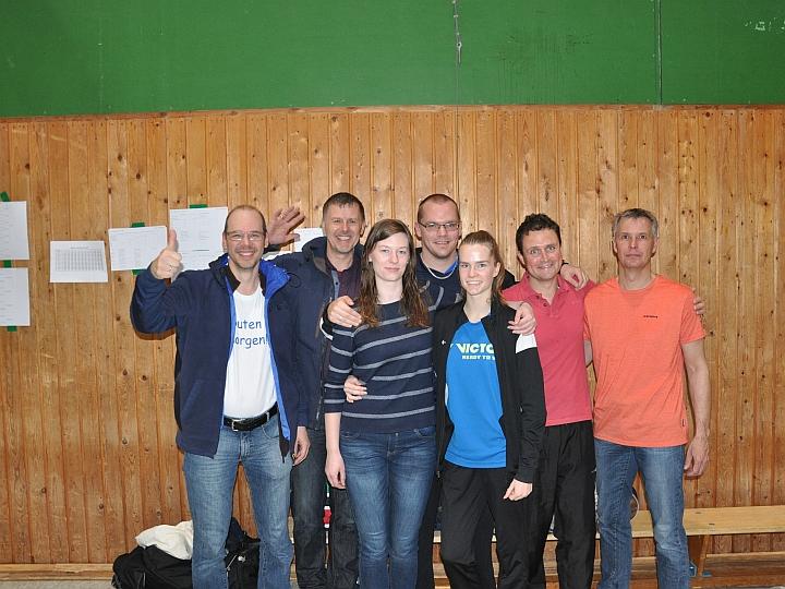 v.l.: Jems Kretschmer, Manfred Schubert, Alina Schaper, Jürgen Schaper, Merle Weber, Volker Gorray, Ralf Konow