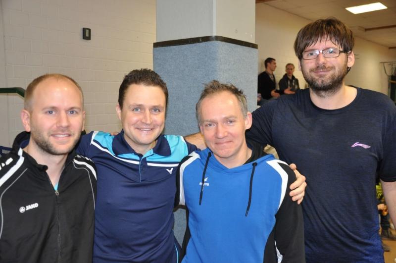 Moritz Albrecht, Volker Gorray, Michael Klamt und Stephan Lehmann