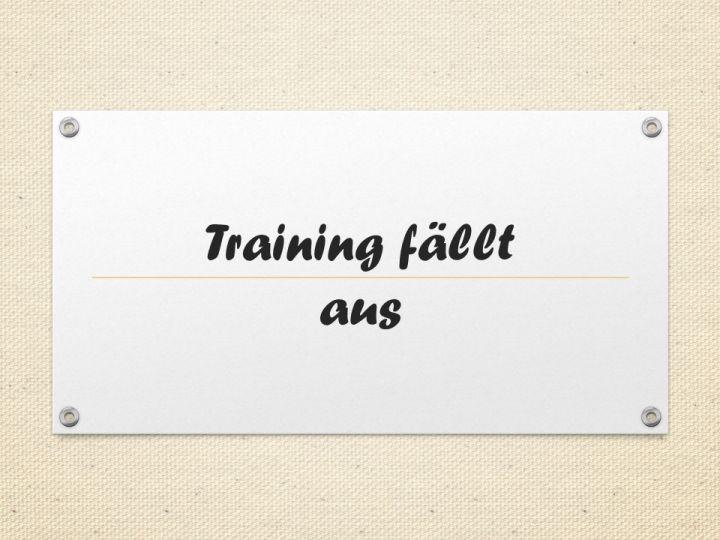 Training fällt